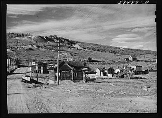 Russell Gulch, ghost mining town near Central City, Colorado