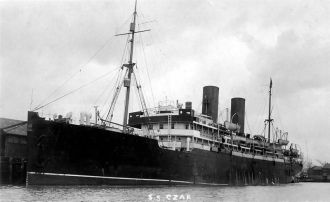 Ship Czar,   Liepoja - New York,  1912