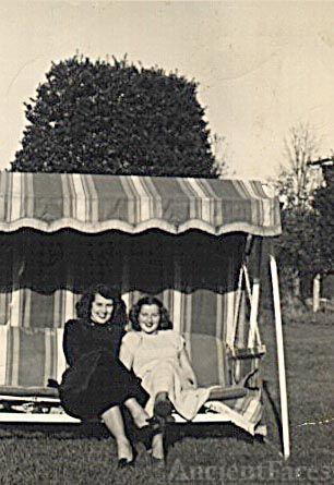 Annabelle Calkin & friend, Phyllis Vetter