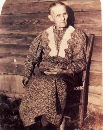 Granny on the front porch