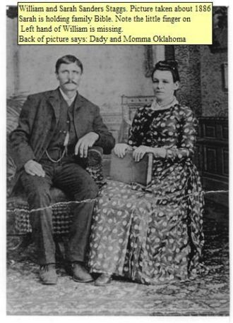 William and Sarah Sanders Staggs