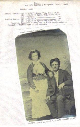 Daniel and Martha Irwin