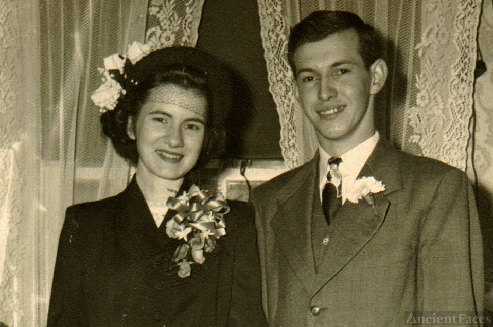 Edna Norris and James Wood - wedding