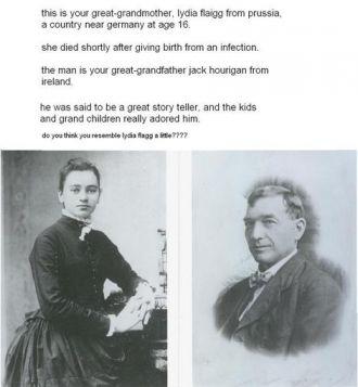 John Hourigan & Lydia Flagg, 1860