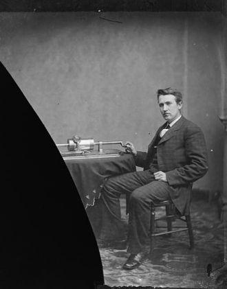 Edison, Thomas A. photo by L.C. Handy 1877