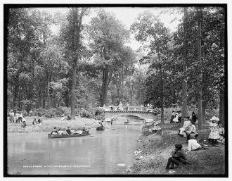 Bridge in the woods, Belle Isle [Park], Detroit