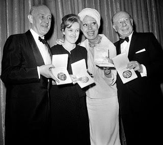 Bert Lahr with his Tony Award.