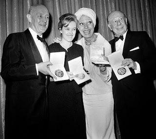 Bert Lahr with his Tony Award.