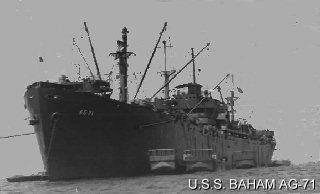 Wilburn Cleo Hobbs' ship, USS Baham