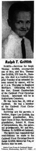 Ralph Griffith Obituary