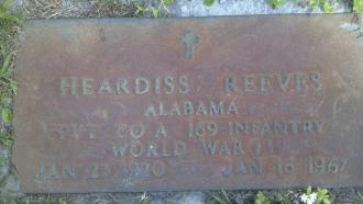 Heardiss Reeves Gravesite