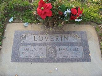 Irma S Cole Gravesite