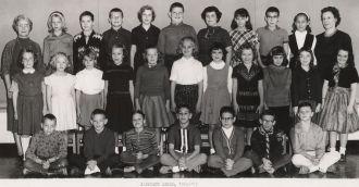 Garrison School, Gr4/5 class, 1962-63, named