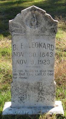 Benjamin Franklin Leonard grave