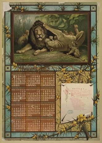 The Strobridge Lithographing Co. Calendar, 1883
