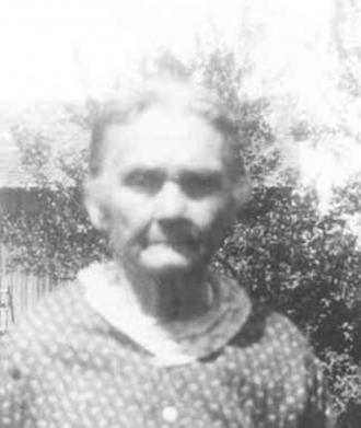 Sarah Jane Trueblood Morris at Harristown, Washington County, IN