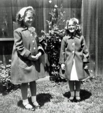Kathy & Pam Kroetch, Easter Outfits, San Jose, CA