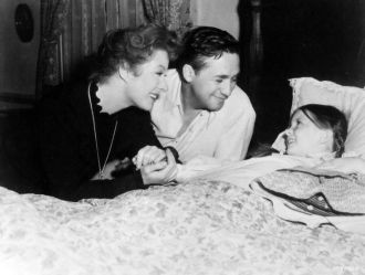 Mervyn LeRoy, Greer Garson and Margaret O'Brien