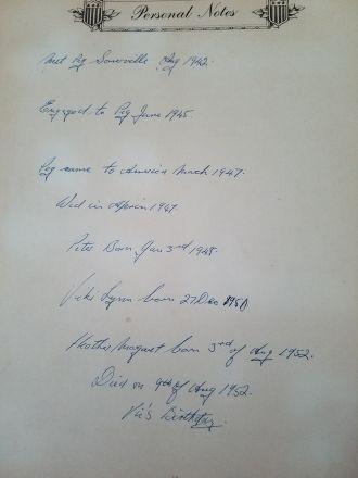 Victor A Marasti, Service Notes