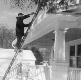 Earl Smith clearing snow