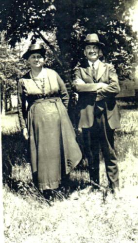 Louise Fillion with husband Joseph Delorier