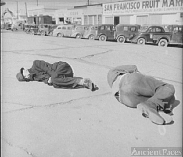 Men Sleeping on Howard St San Francisco