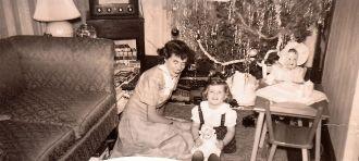 Jenniemae (Halsall) Miller and Donna Lee Miller Trivinia 1949