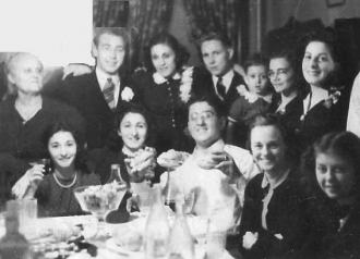 Rose T. Gabriele Fabiano at cousin's wedding in 1941