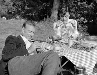 Audrey Hepburn and Gary Cooper