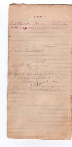J.O. Stewart's Diary, JAN 2