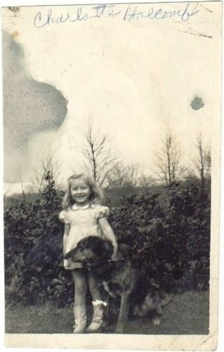 Charlotte Holcomb Conley as child