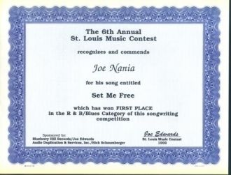 Joe Nania song writing award