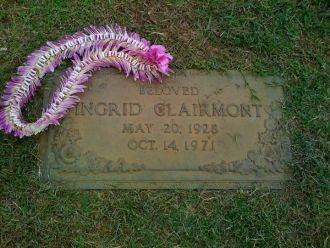 Ingrid Clairmont gravesite