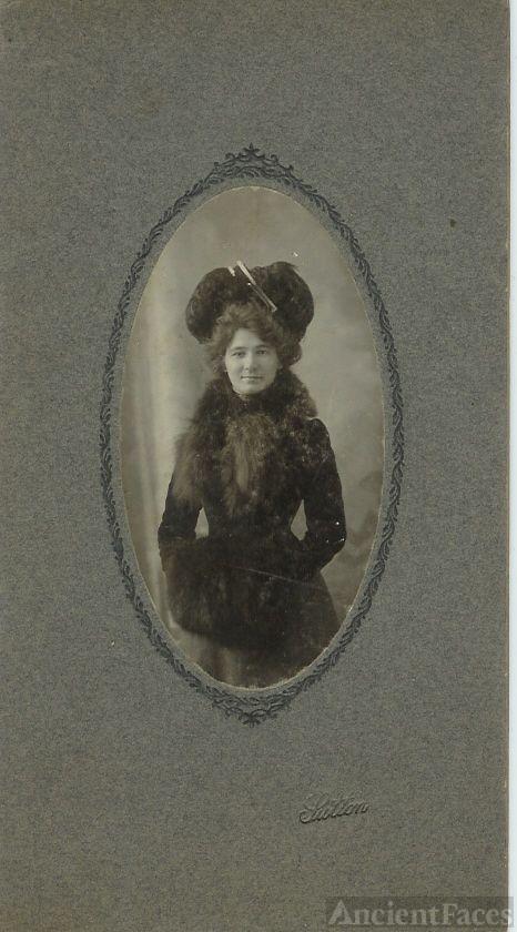 Woman in Winter Coat and Fur