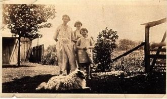 Three Ladies & a Dog