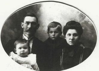 Albert M. Carl, Anna Emeline Partlow & Family