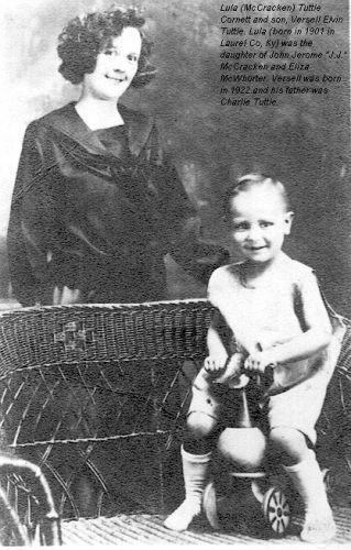 Lula (McCracken) and son, Versell Tuttle