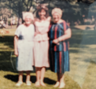 Leontina M Bernard Holly A Villella Dolores J Chiappazzi on Mother's Day in the 1980s