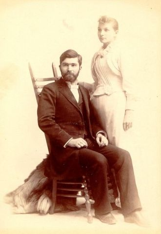 Robert & Ernestine (Kappen) Baur, 1890