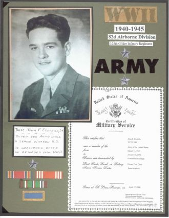 DAD in the Army: John F. Costello,Sr
