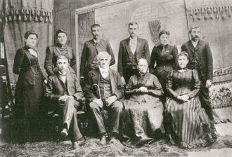 Levi Osborn family 1890