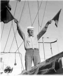 Buddy onboard the USS Antietam