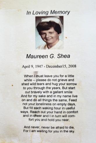 Maureen Mass Card