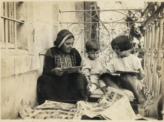 Arab woman in traditional dress