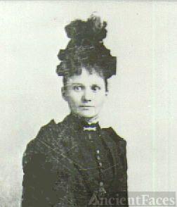 Bertha Mary Groth on her wedding day, 15 Nov. 1882