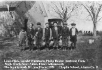 School Car Wash 1921