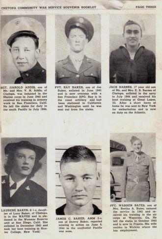 ted stafford's army book, Kansas WW II