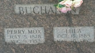 Lula and Perry Mox Buchanan gravesite