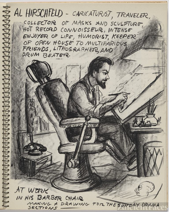 Al Hirschfeld Cartoon