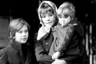 Audrey Hepburn, Sean Ferrer and Luca Dotti